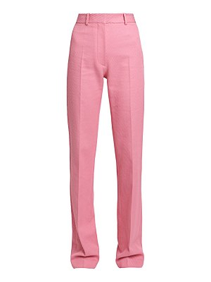 Victoria Beckham straight-leg ribbed cotton trousers