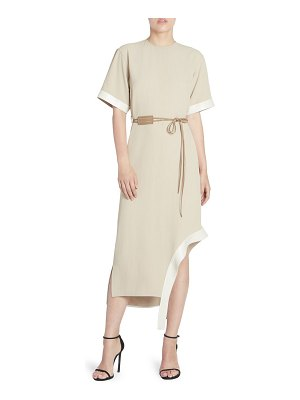 Victoria Beckham utilitarian belted t-shirt dress