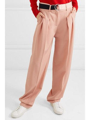 Victoria by Victoria Beckham belted pleated wool-cady tapered pants