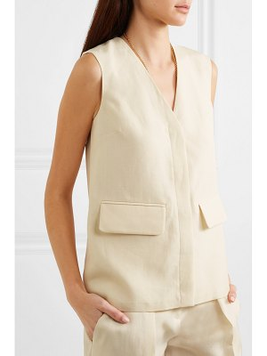 Victoria by Victoria Beckham canvas and satin vest