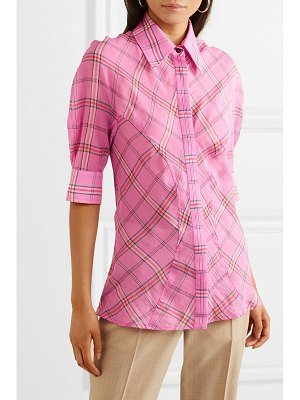 Victoria by Victoria Beckham checked cotton and silk-blend shirt