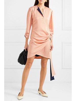 Victoria by Victoria Beckham wrap-effect satin-crepe mini dress
