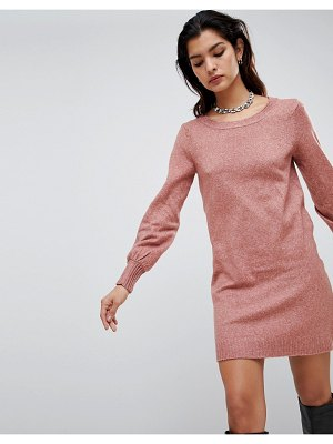 Vila boat neck knit mini sweater dress