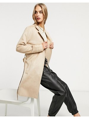 Vila edge to edge trench in cream