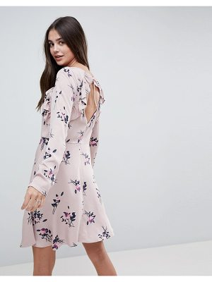 Vila floral dress with ruffles