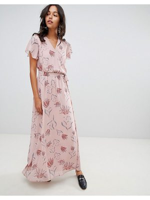Vila Floral Wrap Maxi Dress