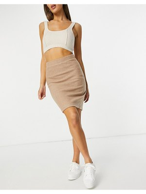 Vila knit skirt in beige