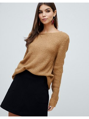 Vila long sleeve knitted top-beige