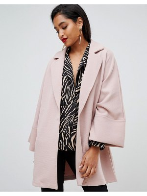 Vila oversized coat with wide sleeves-pink