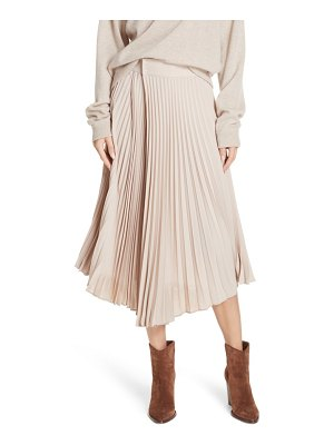 Vince asymmetric hem pleated skirt