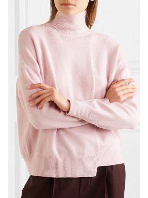 Vince asymmetric wool and cashmere-blend turtleneck sweater