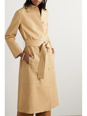 Vince belted leather coat