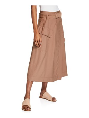 Vince Belted Midi Utility Skirt