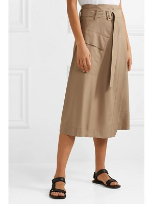 Vince belted twill wrap skirt