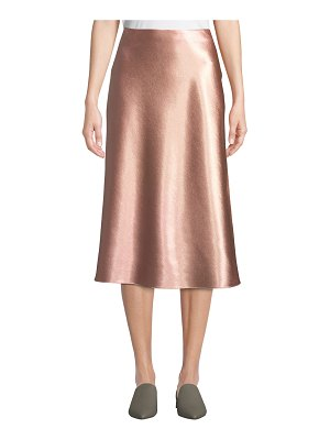 Vince Bias-Cut Satin Midi-Length Slip Skirt