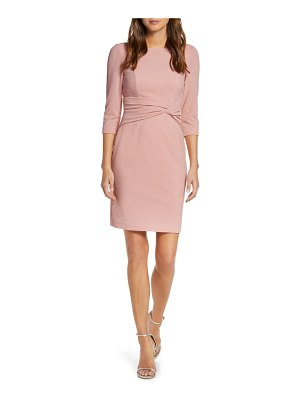Vince Camuto bateau neck sparkle sheath dress