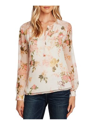 Vince Camuto beautiful blooms chiffon blouse