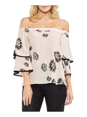 Vince Camuto chateau floral off the shoulder top