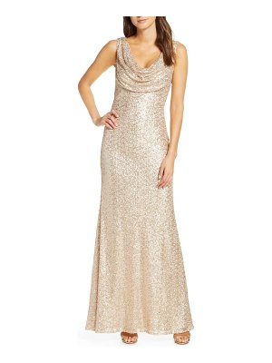 Vince Camuto cowl neck sequin gown