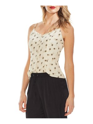 Vince Camuto ditsy floral print button front camisole