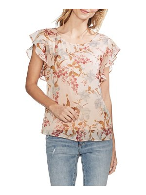 Vince Camuto flutter sleeve wildflower top