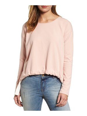 VINCE CAMUTO French Terry Drawstring Front Top