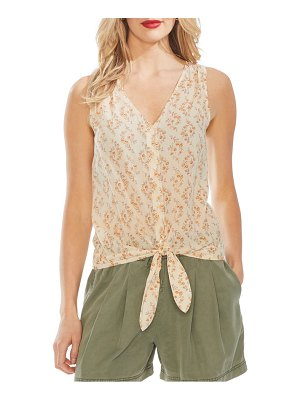 Vince Camuto heirloom bouquet tie front shirt
