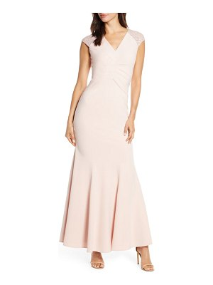 Vince Camuto lace back trumpet gown