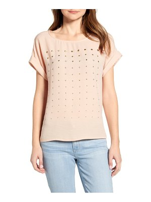 Vince Camuto metal dot short sleeve top