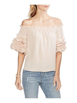 Vince Camuto off the shoulder ruffle sleeve blouse