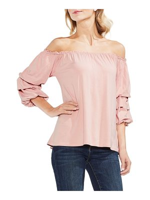 Vince Camuto off the shoulder tiered top