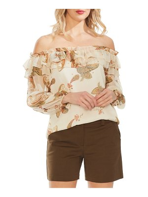 Vince Camuto paisley spice off the shoulder top