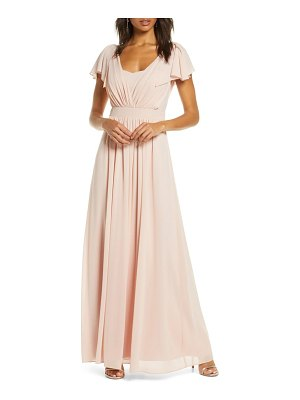 Vince Camuto pleat chiffon gown