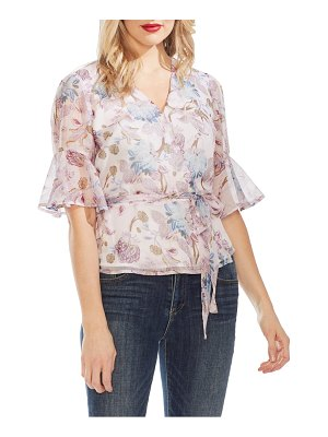Vince Camuto poetic blooms belted wrap blouse