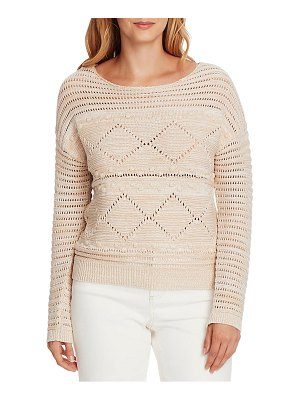 Vince Camuto popcorn stitch cotton sweater