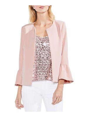 VINCE CAMUTO Ruffle Sleeve Open Front Jacket