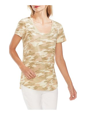 Vince Camuto scoop neck camo tee