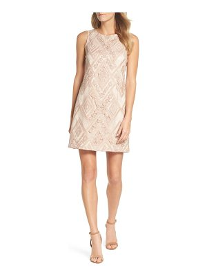 VINCE CAMUTO Sequin Embroidered Sheath Dress