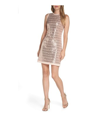 Vince Camuto sequin mesh sheath dress
