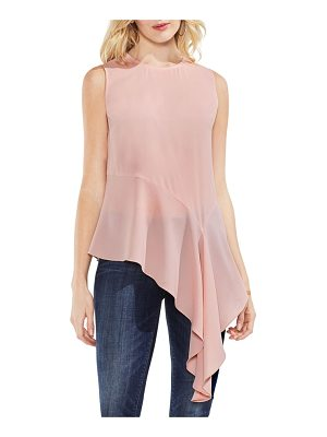 VINCE CAMUTO Sleeveless Asymmetrical Hem Blouse