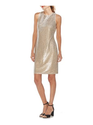Vince Camuto sleeveless sequin sheath dress