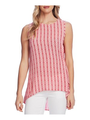 Vince Camuto starburst stripe side tie high low sleeveless top