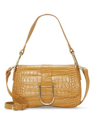 Vince Camuto tal croc embossed leather shoulder bag