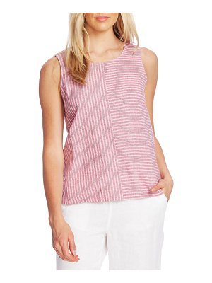 Vince Camuto ticking stripe sleeveless top