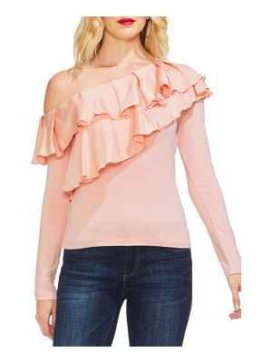 Vince Camuto tiered ruffle one-shoulder top