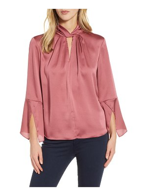 Vince Camuto twist neck handkerchief sleeve satin top