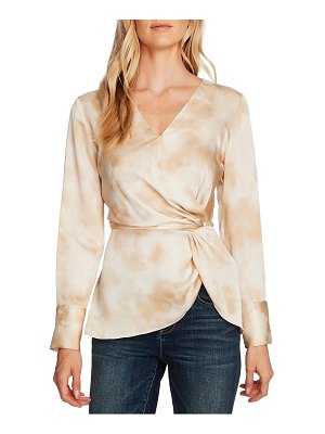 Vince Camuto vapor whisper side twist hammered satin blouse