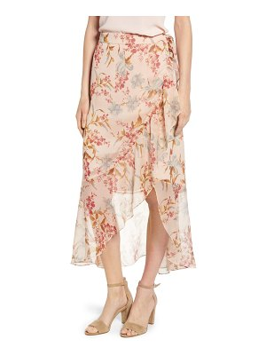 Vince Camuto wildflower faux wrap skirt