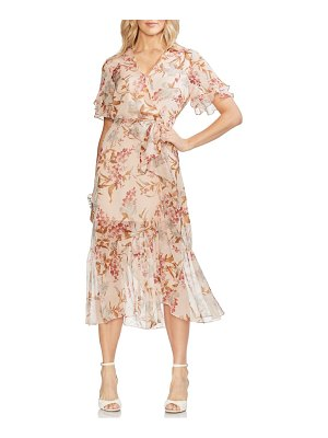 Vince Camuto wildflower tiered ruffle chiffon dress