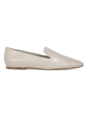 Vince clark square-toe croc-embossed leather loafers